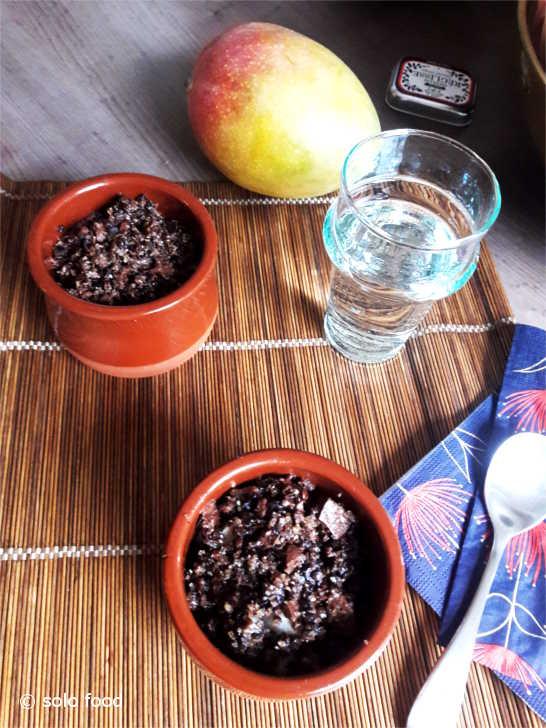 Pears-chocolate Crumble - solo food