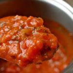 Sauce tomate aux lardons et poivrons
