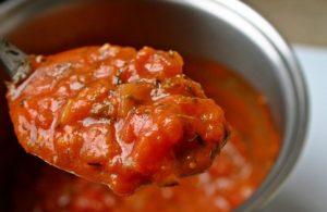 sauce aux lardons, poivrons - solo food