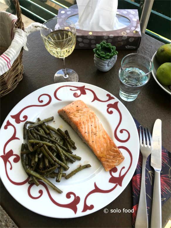 saumon au citron et au wasabi - solo food