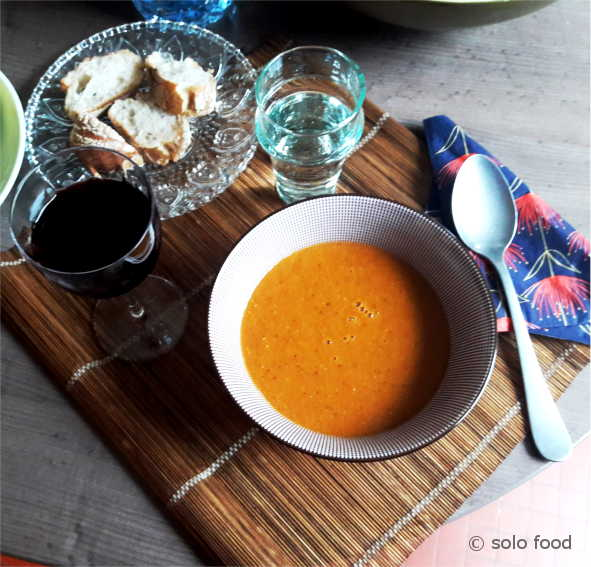 Velouté de lentilles au cumin et à la tomate -solo food