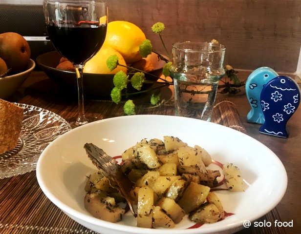 Pommes de terre au thym et à l'ail (à la poêle) – solo food – le journal des recettes pour une personne