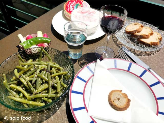haricots verts ail semoule- vinaigre balsamique aux figues - solo food