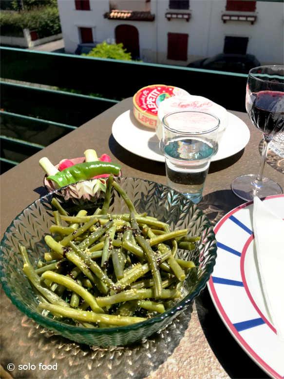 haricots verts ail semoule- vinaigre balsamique aux figues - vertical
