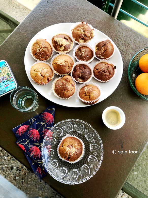muffins aux framboises - solo food