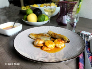 noix de St Jacques aux agrumes - solo food