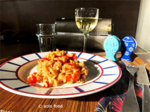 risotto aux crevette - solo food
