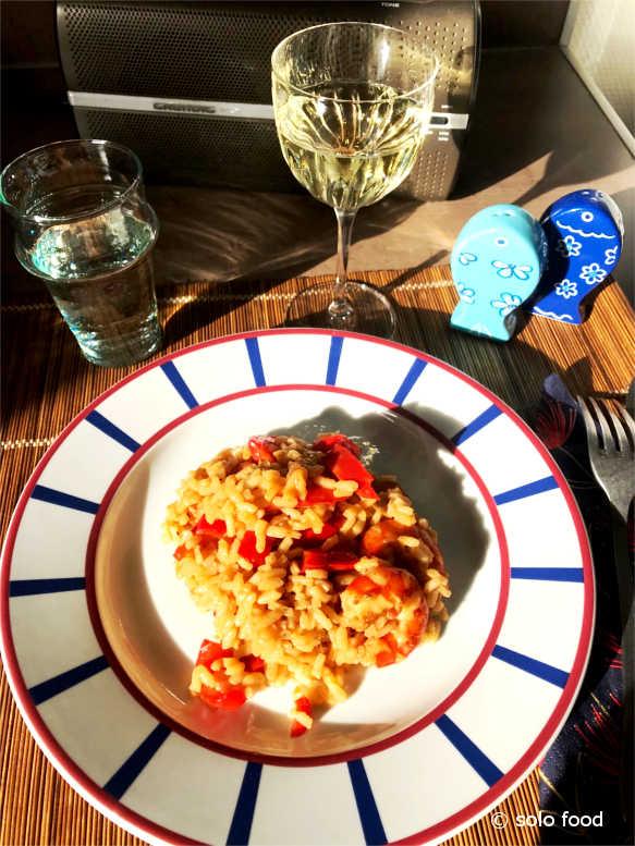 risotto aux crevettes - solo food