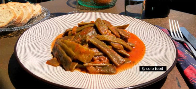 haricots plats à la sauce tomate -fassolakia