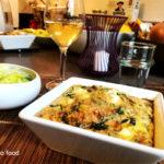 Frittata aux épinards, poireaux et féta