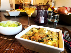 Frittata with spinach, leeks and feta - solo food
