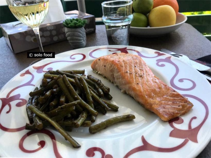 saumon au citron et au wasabi