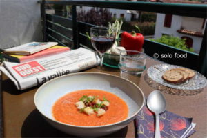 gaspacho au poivron rouge