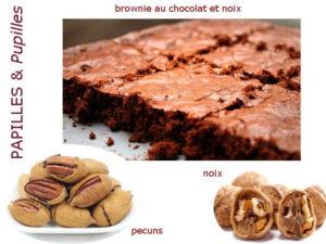 Brownie au chocolat et noix de Papilles et Pupilles