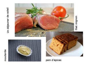 filet mignon à la moutarde et pain d'épices par Edda Onorato