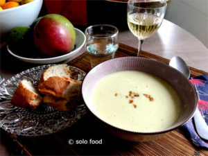 soupe au brocoli et gorgonzola
