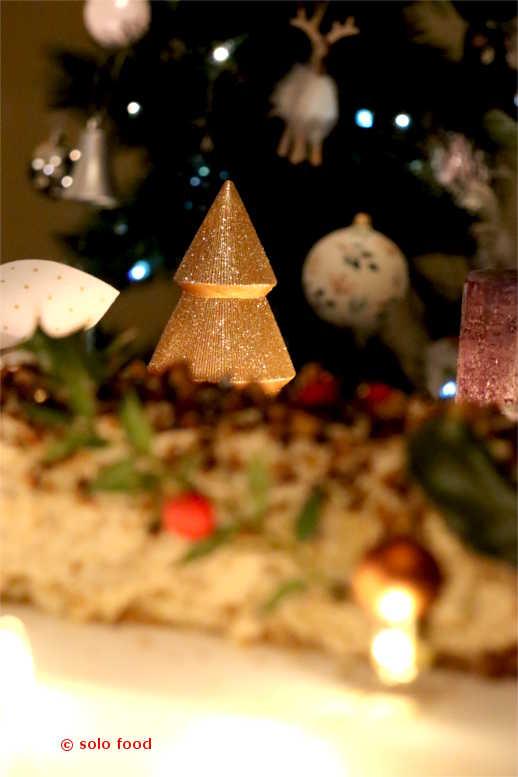 bûche de Noël fort-fort pralinée