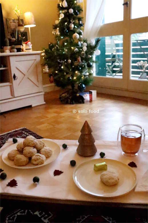 Sablés grecs de Noël et de Nouvel An - kourabiedes