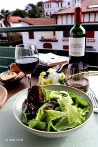 Salade verte à l'ail semoule et au vinaigre de Xérès