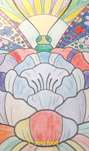 mandalas #5 - papillon - détail