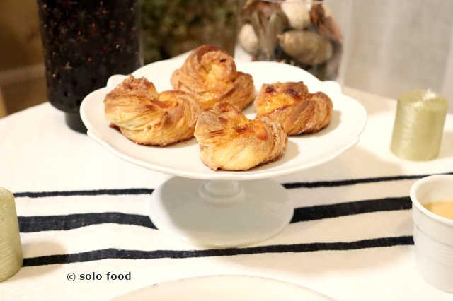 viennoiseries danoises en forme d'escargots