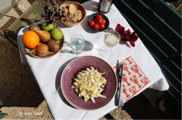 salade d'endives au citron vert et au miel