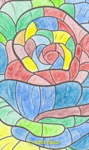 mandalas #11 - fleur - détail