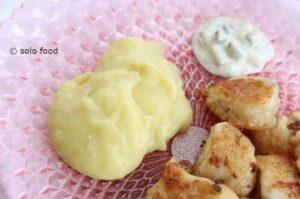 purée de pommes de terre à l'ail