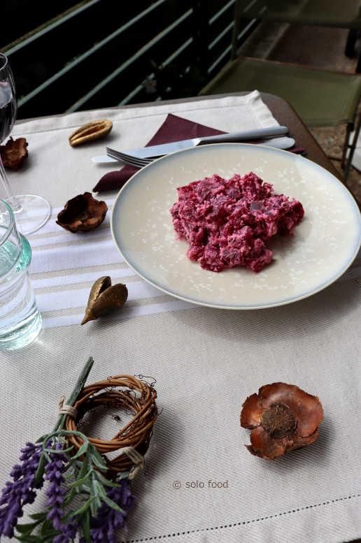salade de betteraves, breuil de brebis et cumin