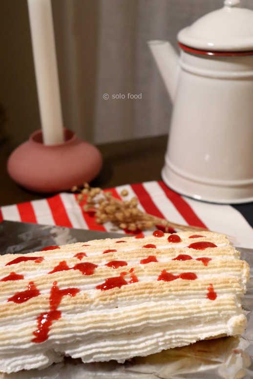 mini-bûche à la fraise