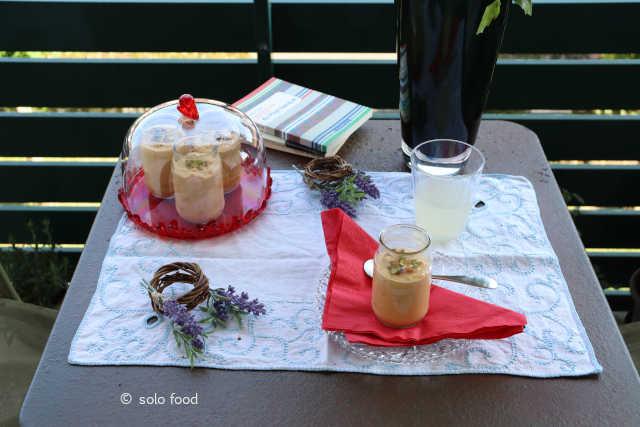 crème aux abricots et pistaches